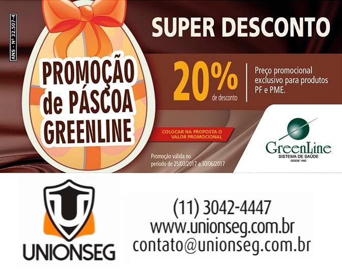 Promoção de Parcoa Greenline, Plano de Saúde Greenline, Greenline, Plano de Saúde, Saúde Individual, Convênio Médico, Unionseg, Corretora de Seguros