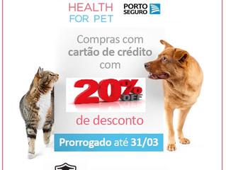 Promoção Health For Pet, com 20% de Desconto no Cartão!