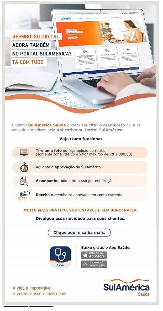 sulamérica saúde, reembolso de consultas, plano de saúde, convênio médico, unionseg, corretora de seguros