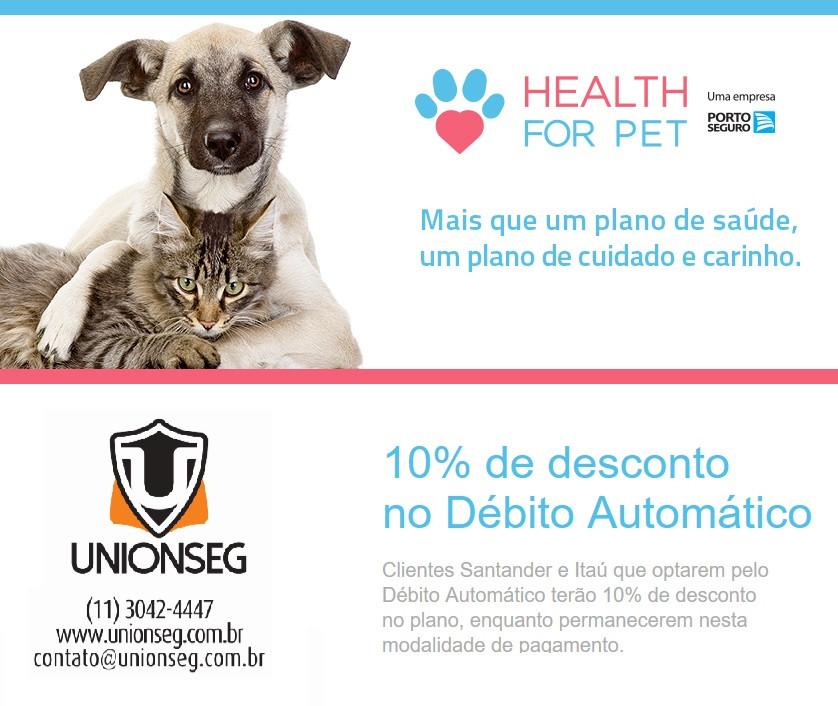 Health For Pet, health4pet, plano de saúde para cães, plano de saúde para gatos, animais de estimação, cachorro, gato, unionseg, corretora de seguros