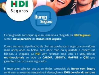 HDI É A MAIS NOVA PARCEIRA DO ITURAN COM SEGURO