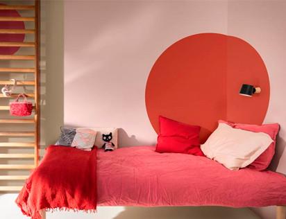 Última tendencia en aplicación de color: pintar círculos para acentuar espacios