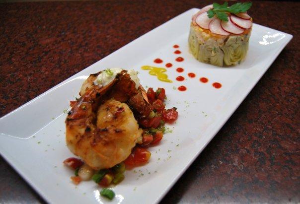 Cajun Shrimp. Artichoke Salad