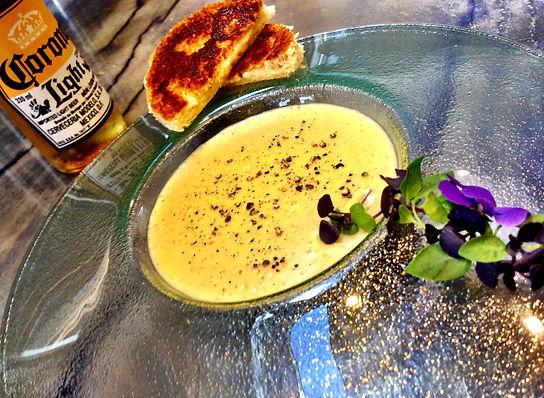 with aged gruyere & white truffle toasties