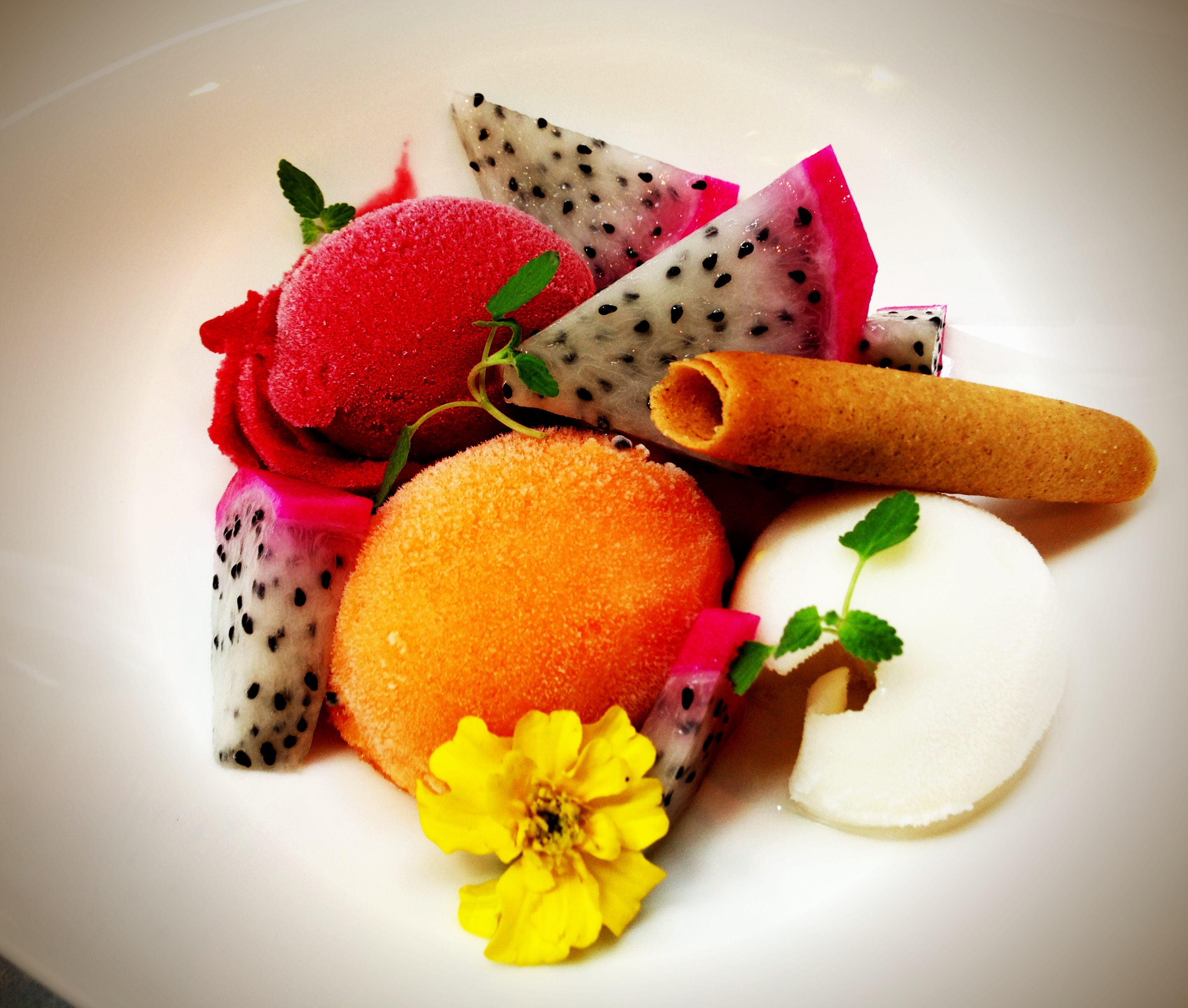 Raspberry, Orange and Lemon Sorbet