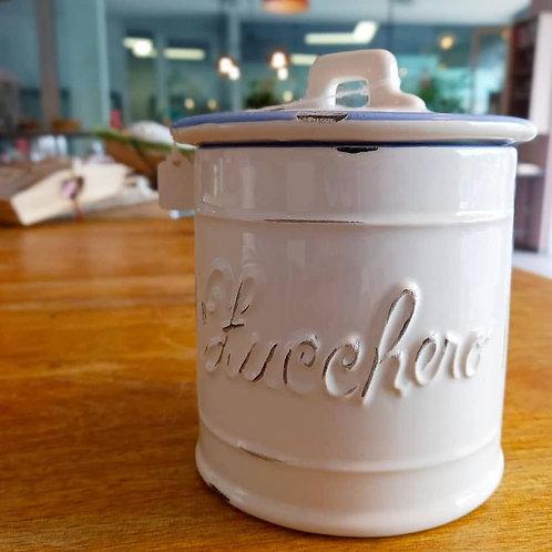 vaso in ceramica invecchiata per zucchero