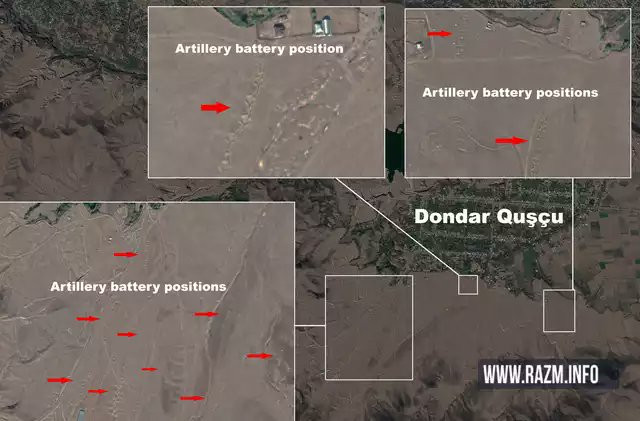 Azerbaijani Forces encircled their own population with artillery batteries