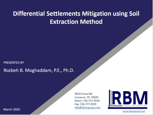 Webinar : Differential settlements mitigation using soil extraction method