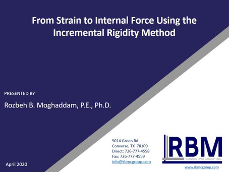 Webinar: From strain to Internal force using the incremental rigidity method