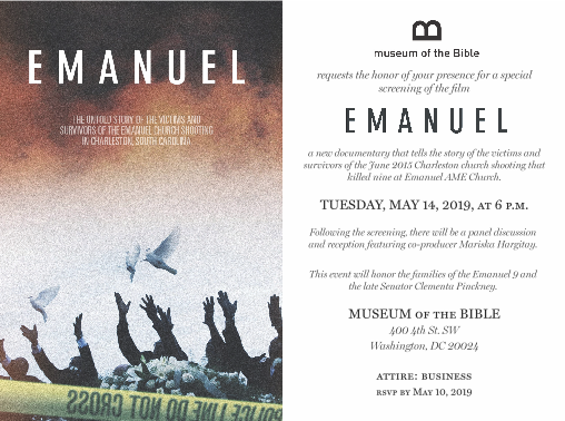Emanuel at the Museum of the Bible
