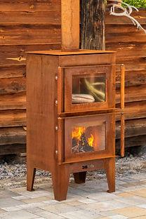 Gartenkamin ARVED corten - FeuerCampus 3