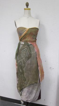 Raw Silk & Cheese Cloth Dress