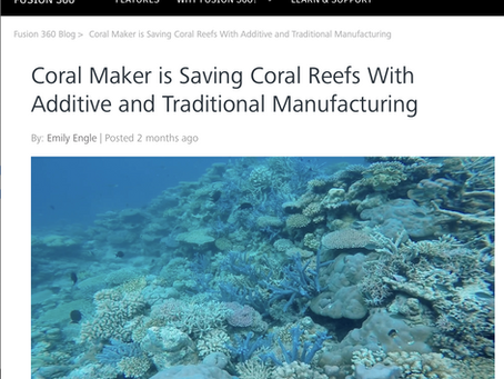 Coral Maker in the Autodesk news