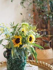 テーブルにも向日葵ちゃんを