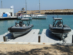 Police-boats-on-drive-on-dock