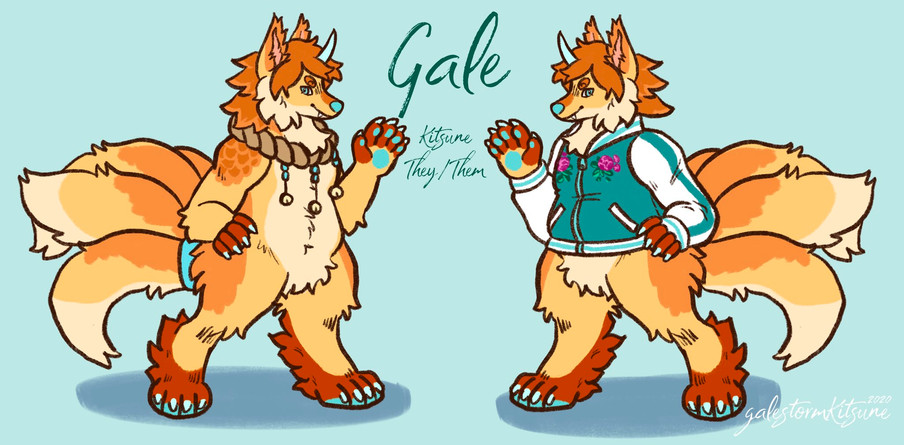Kitsune Gale Reference Sheet