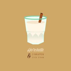 Horchata & Cinnamon Stick Straw