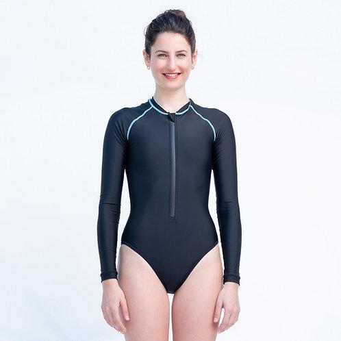 Katie בגד ים שרוול ארוך שחור