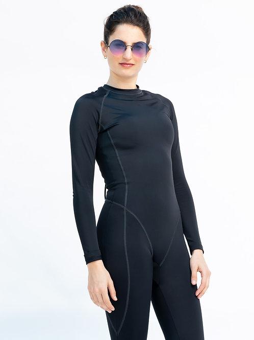 Black Wet Suit חליפת לייקרה גלישה