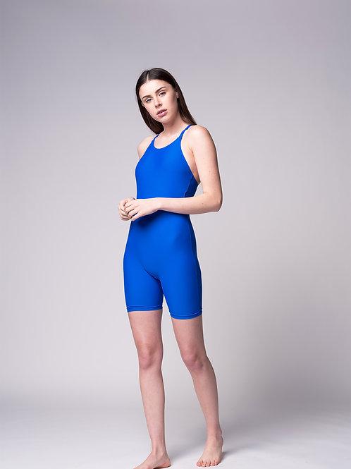 Weever01 בגד ים שלם אוברול כחול