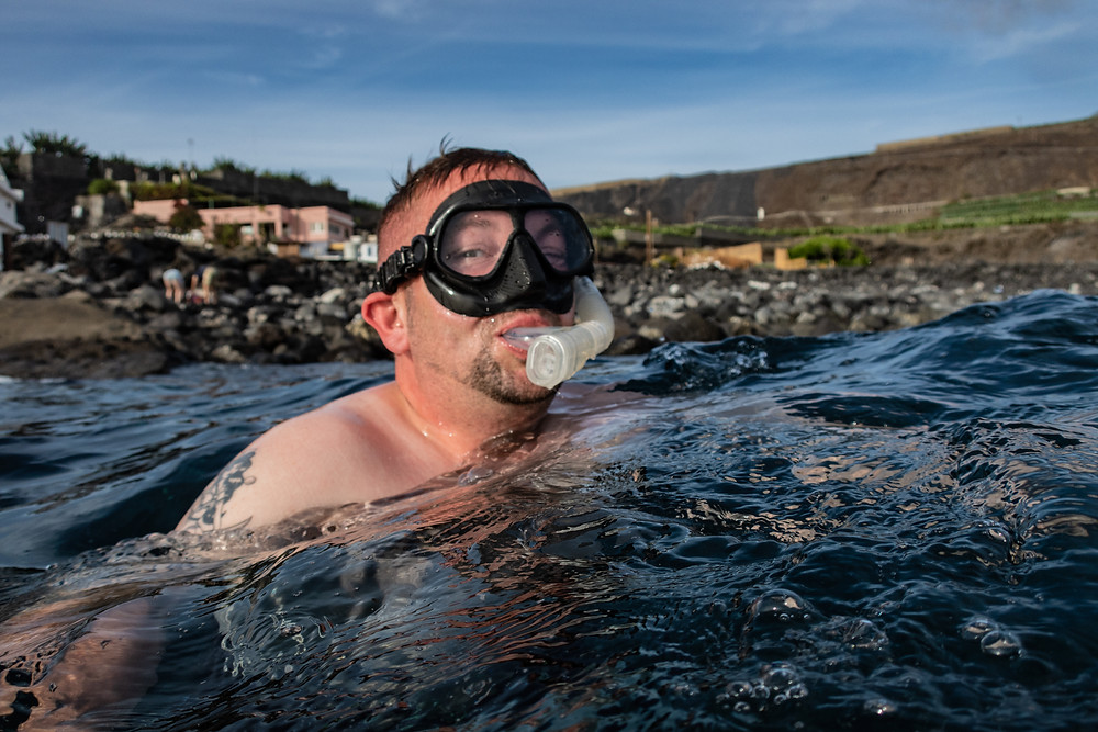 Happiness when snorkelling in La Palma