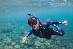Snorkelling makes us happy