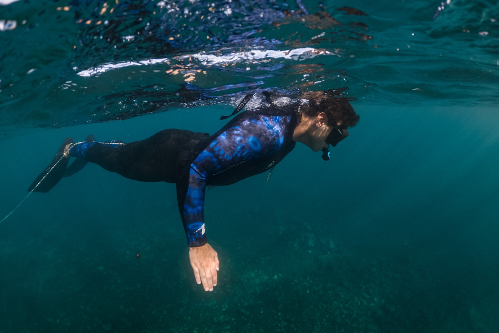 An Oceanológico snorkeller.