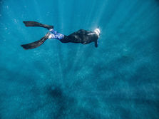 Skin Diving into the blue