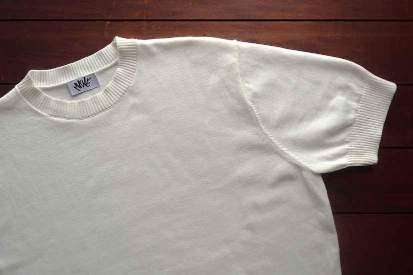 Ivory Knitted T Shirt