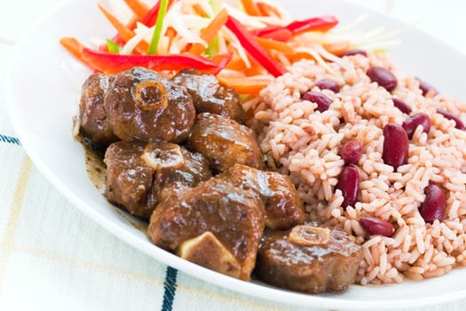 Oxtails, Peas and Rice