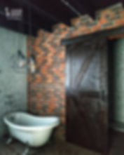 кирпичная кладка в ванной комнате из царского кирпича