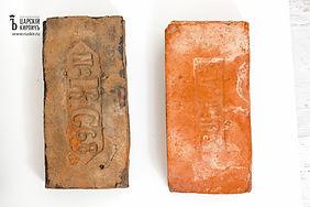 старинный кирпич ручной формовки