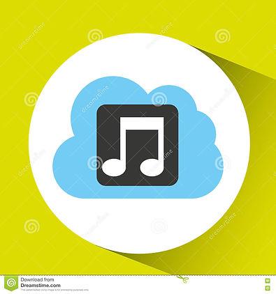 cloud-music-download-connected-design-il
