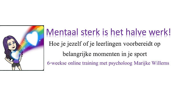 Training mentaal sterk is het halve werk