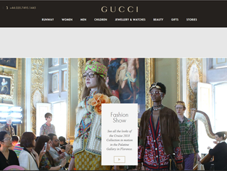 Sofie on Gucci's cover photo & site!
