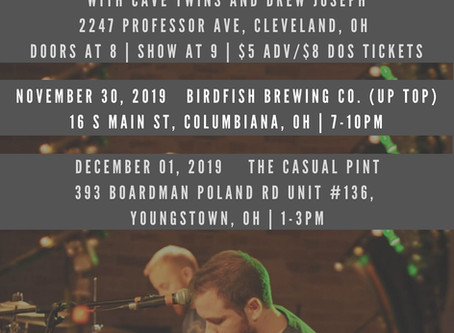 "MITA Newsletter 11.25.19 - ""Forward"" Music Video, NE Ohio Shows + more"
