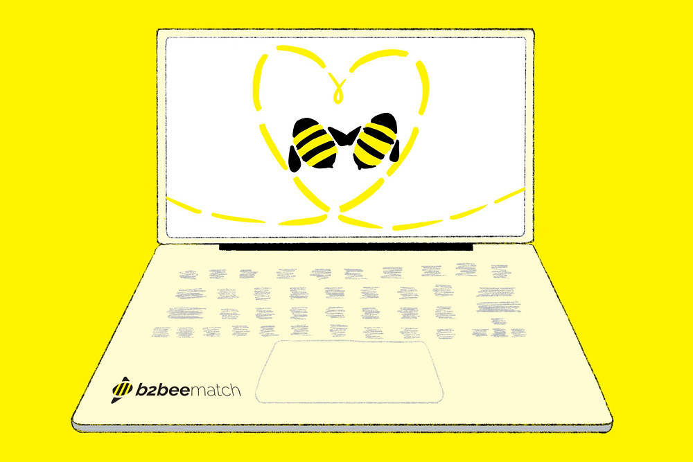 Two bees find B2B professional services online via remote B2B networking!