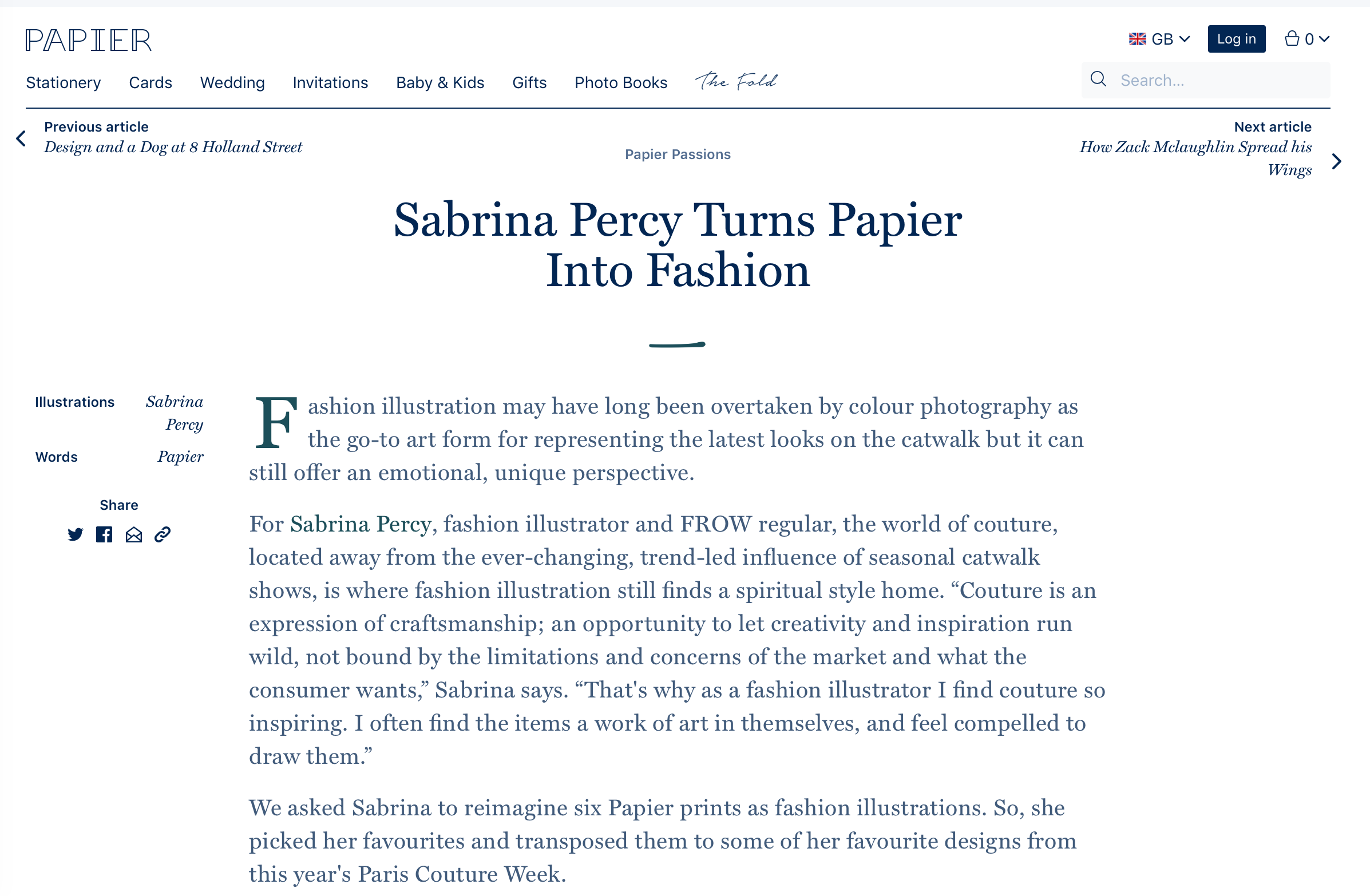 Sabrina Percy Collab with Papier
