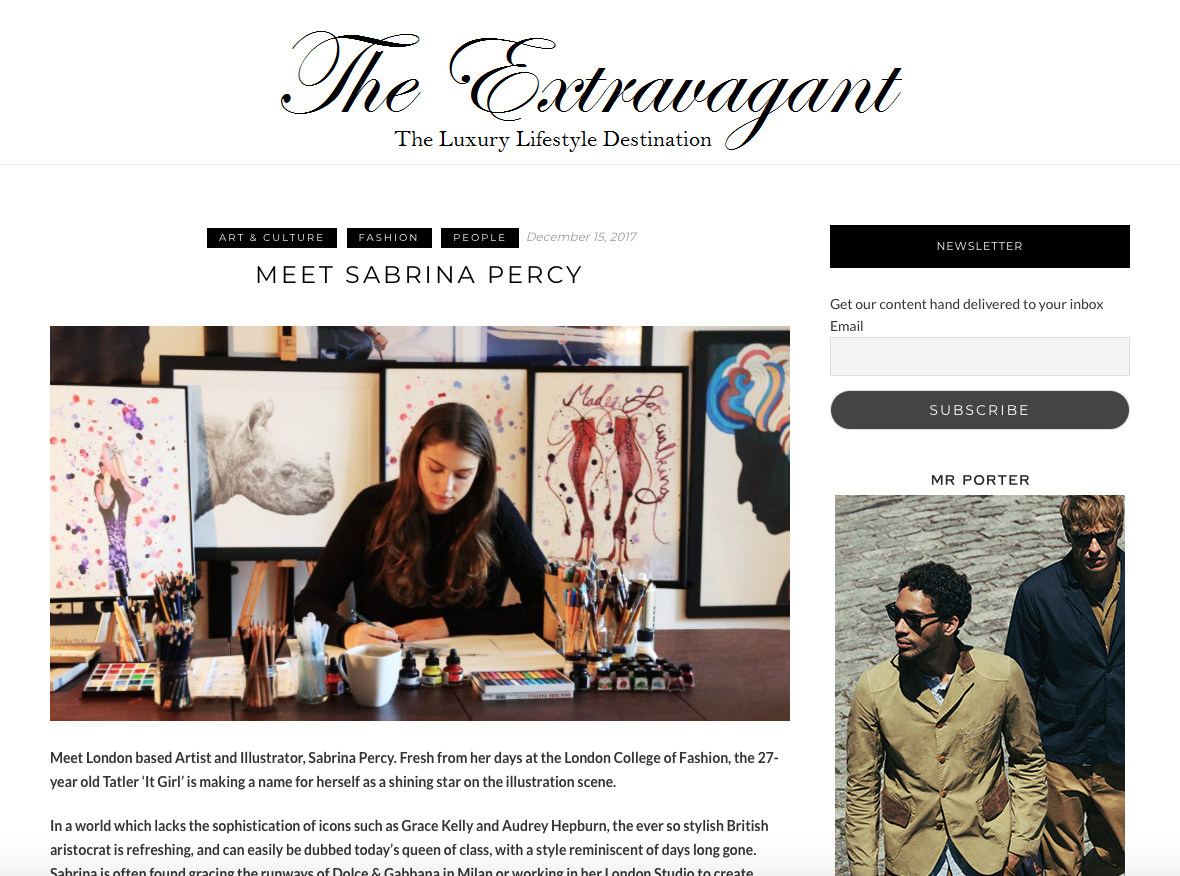The Extravagant | Meet Sabrina Percy