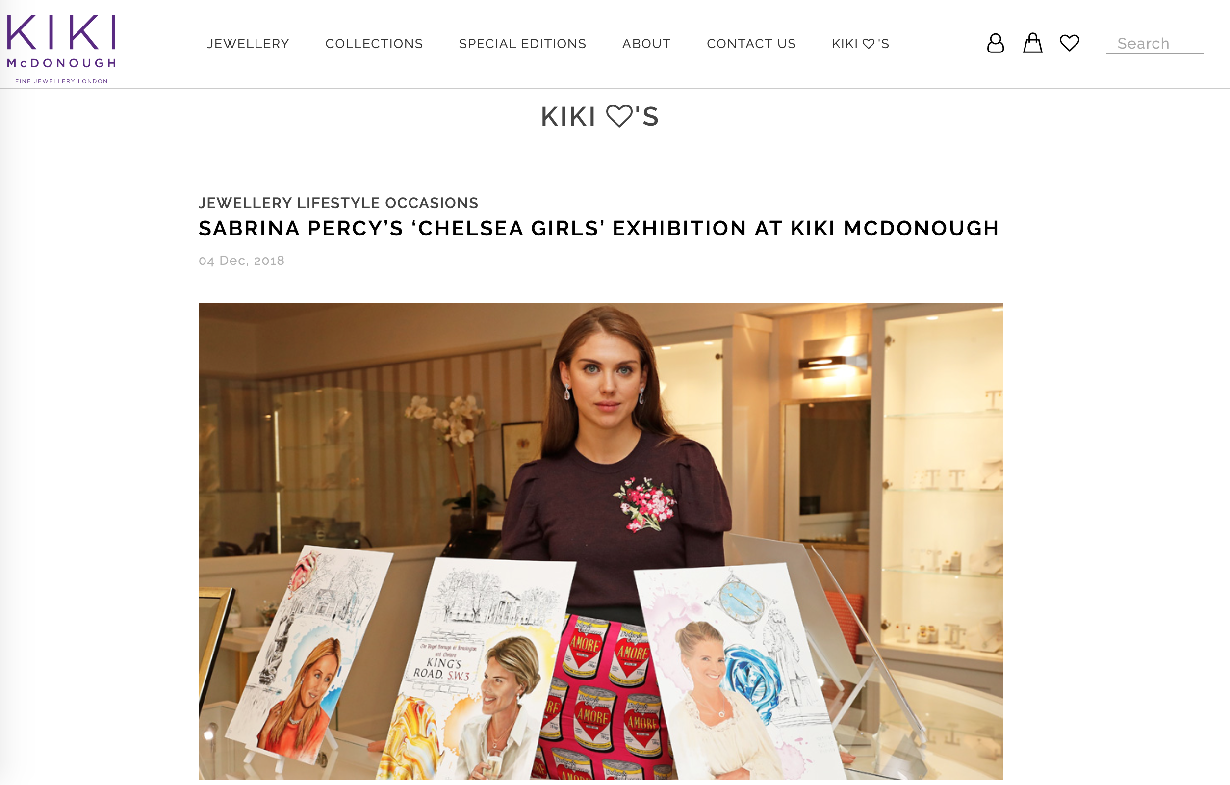 Collaboration with Kiki McDonough
