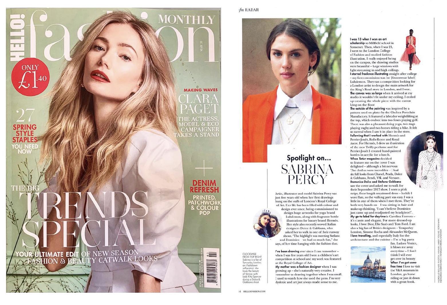 Hello Fashion Magazine March 19