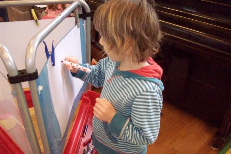 Child at easel