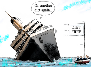 Diets are a sinking ship