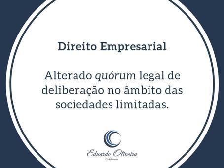 Alterado quórum legal de deliberação no âmbito das sociedades limitadas