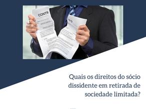 Quais os direitos do sócio dissidente em retirada de sociedade limitada?