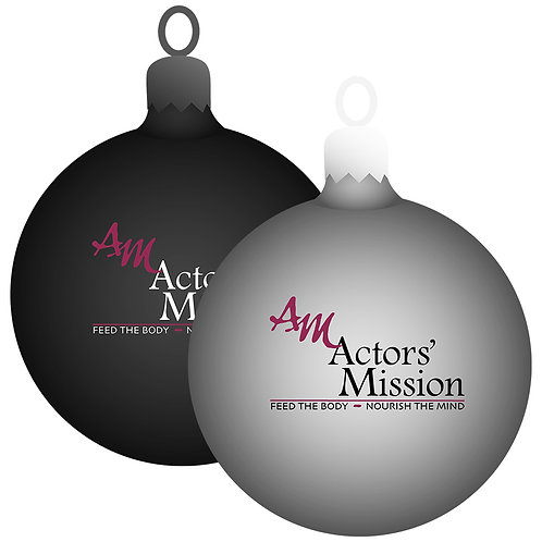 Glass Actors' Mission Christmas Ornaments