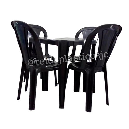 Conjunto Mesa e Cadeira Elisa - Preto
