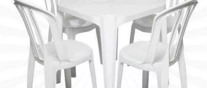 Conjunto Mesa e Cadeira Bistrô - Branco