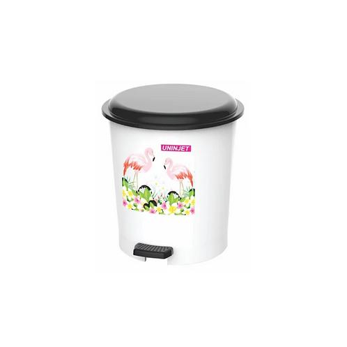 Cesto de Lixo Decorado Com Pedal 12 litros