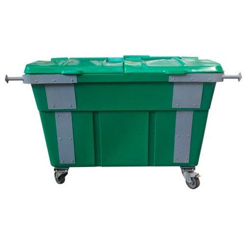 Container de lixo 1200 Litros com tampa Bipartida
